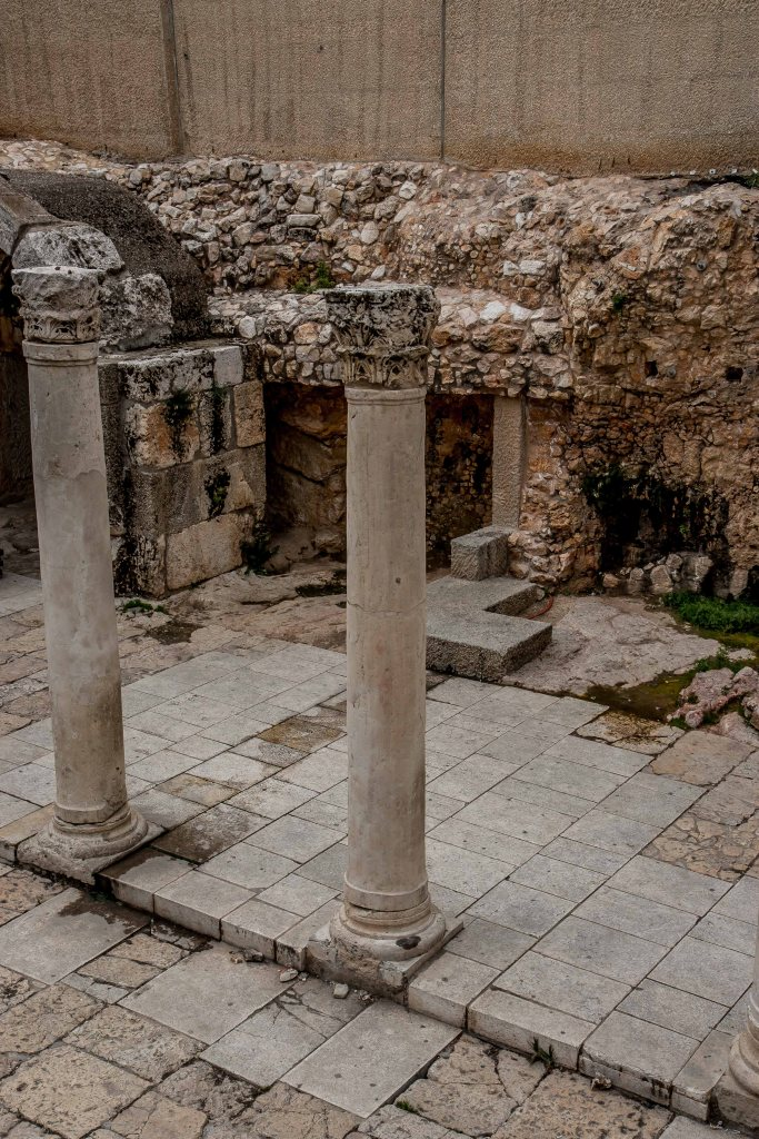 Two pale columns in Roman Jerusalem
